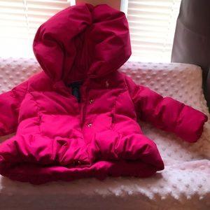 Pink Ralph Lauren Puff Coat